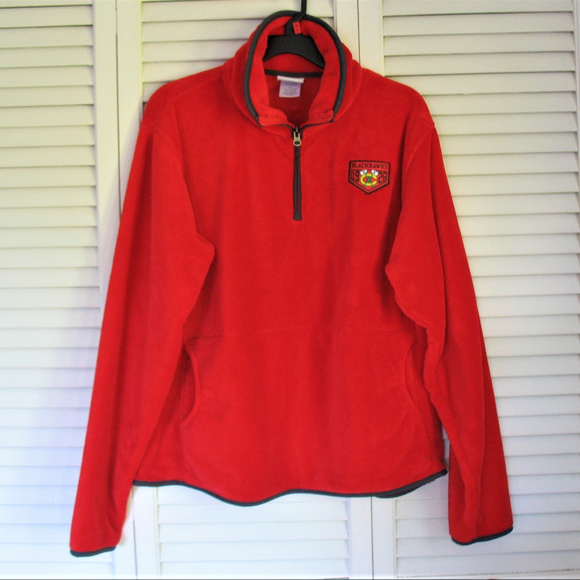 big sale 3af56 30fef CHICAGO BLACKHAWKS WOMEN'S RED FLEECE JACKET